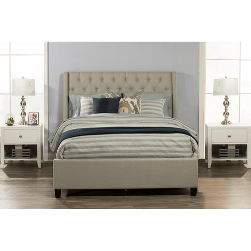 Churchill Queen Bed- Dove Gray Fabric
