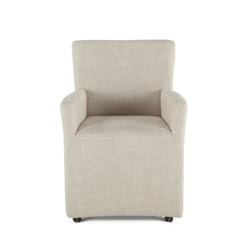 Product Image - Peabody Off-White Linen Wheeled Armchair
