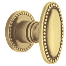 Satin Brass and Brown 5060 Estate Knob