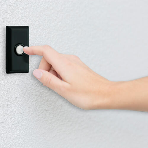 Satin Black BR7015 Rectangular Bell Button