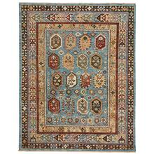 Charise-Shirvan Blue Amber Hand Knotted Rugs