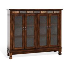 Santa Fe Console with 4 Glass Doors