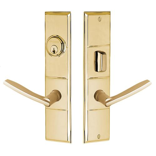Polished Brass Houston Escutcheon Entrance Set