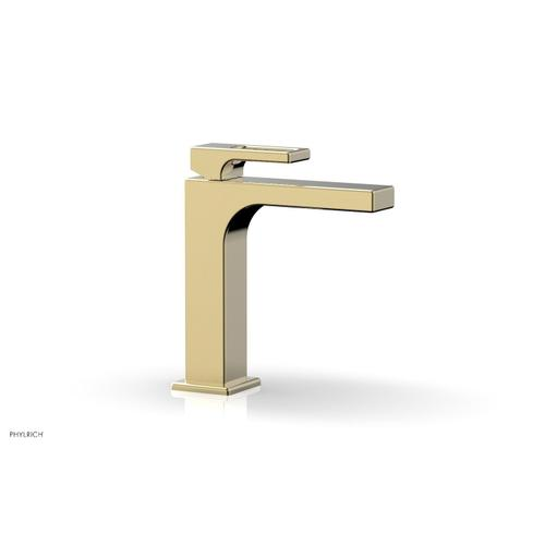 MIX Single Hole Lavatory Faucet, Ring Handle 290-07 - Polished Brass Uncoated