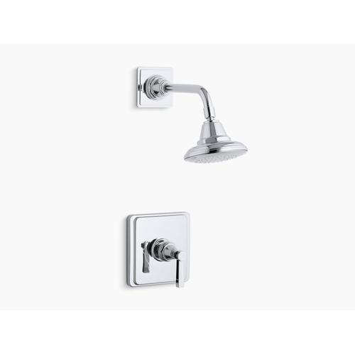 Kohler - Polished Chrome Rite-temp Shower Valve Trim With Lever Handle and 2.5 Gpm Showerhead