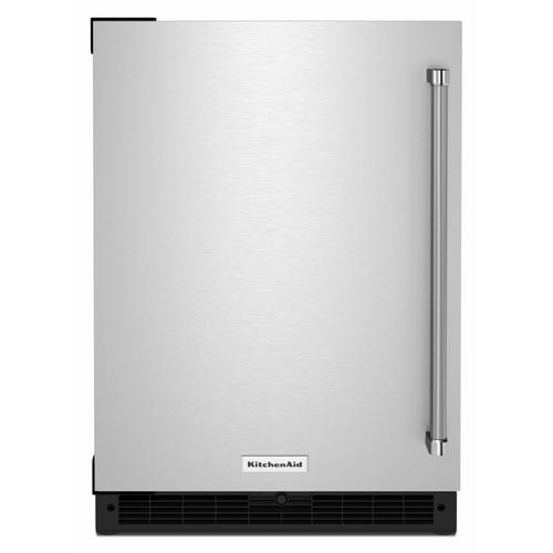 "KitchenAid - 24"" Undercounter Refrigerator with Stainless Steel Door"
