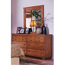 Dresser \u0026 Mirror - Cinnamon Pine Finish