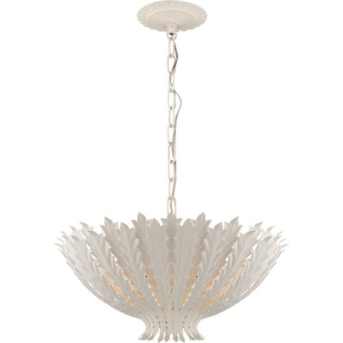 AERIN Hampton 3 Light 20 inch Plaster White Chandelier Ceiling Light, Medium