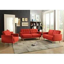 ACME Sisilla Sofa - 52660 - Red Linen