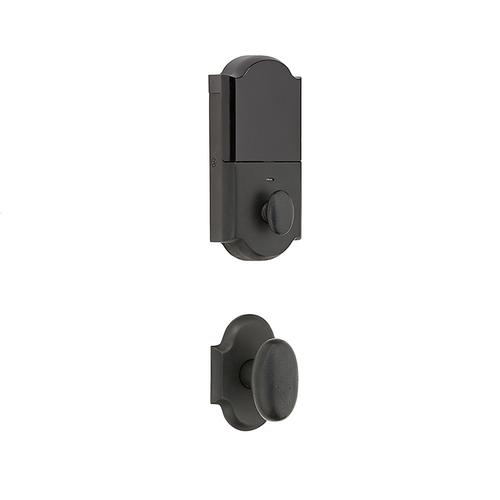 Distressed Oil-Rubbed Bronze Evolved Boulder 3/4 Knob Handleset