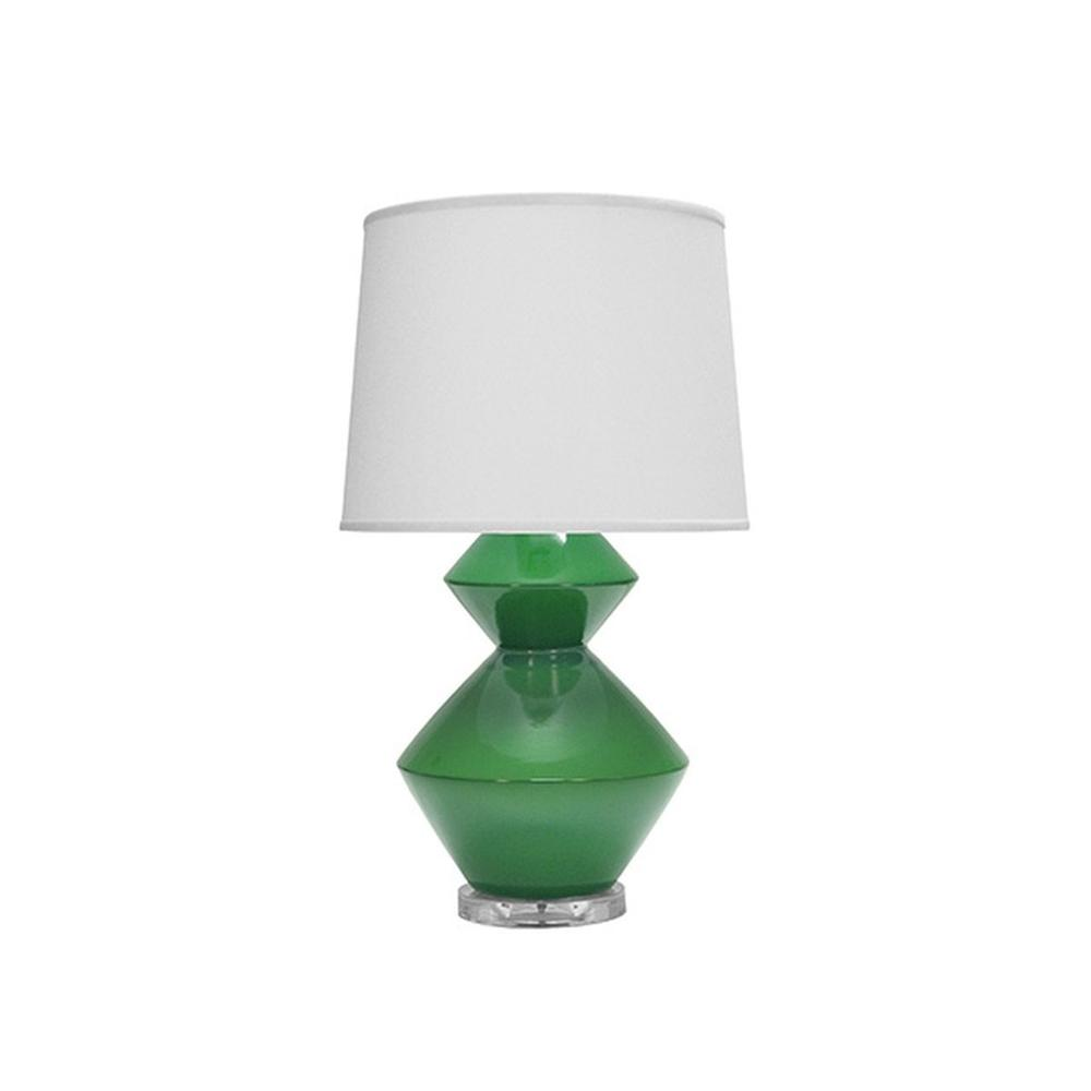 Playful Yet Refined, the Bonnie Table Lamp Is an Elegant and Functional Addition To Any Luxe Interior. Easy To Style and A Go-to Fixture for Many Designers, the Brilliant Green Ceramic Finish Appears To Float Between an Acrylic Base and A Crisp White Linen Shade.