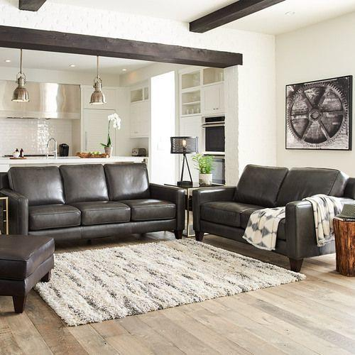 Archer Signature Leather Loveseat