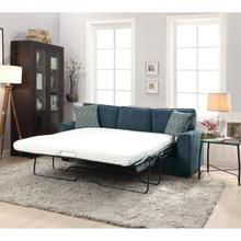 BLUE FABRIC SOFA W/SLEEPER