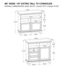 Howard Miller Extra Tall Custom TV Console XT46A