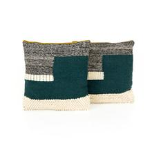 """View Product - 24x24"""" Size Color Block Pillow, Set of 2"""