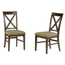 Product Image - Lexi Dining Chairs Set of 2 with Cappuccino Cushion in Walnut