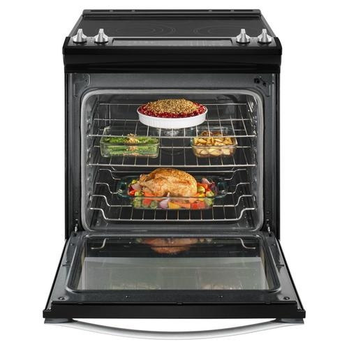 Whirlpool - 6.4 Cu. Ft. Slide-In Electric Range with True Convection Black Ice