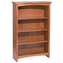 "GAC 48""H x 30""W McKenzie Alder Bookcase in Antique Cherry Finish"