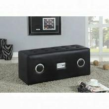 ACME Laila Sound Lounge Bench w/Bluetooth Speaker - 96528 - Black PU