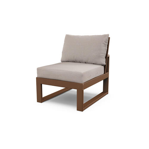 Teak & Dune Burlap Modular Armless Chair