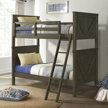 Tahoe Youth Twin over Twin Bunk Bed  River Rock