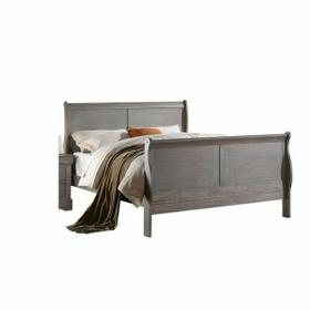 ACME Louis Philippe III Full Bed - 25510F - Antique Gray