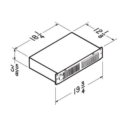 Broan® Kickspace Heater w/ Built-In Thermostat, 1500W 240VAC, 750/1500W 120VAC