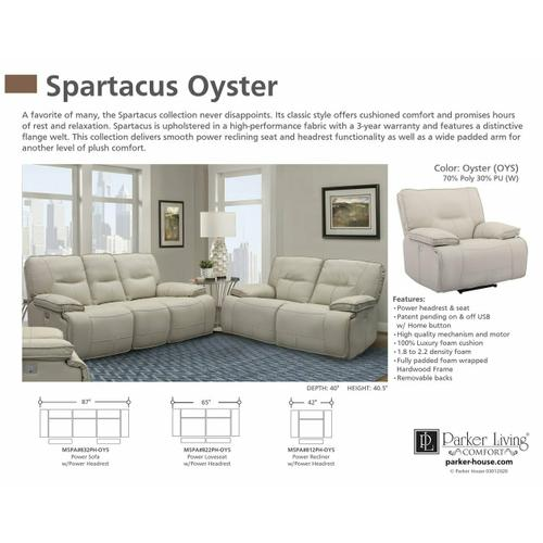 Parker House - SPARTACUS - OYSTER Power Sofa