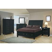 Sandy Beach Black California King Five-piece Bedroom Set