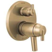 Champagne Bronze Contemporary TempAssure ® 17T Series Valve Trim with 6-Setting Integrated Diverter