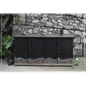 See Details - 4 Door Console, Black Finish