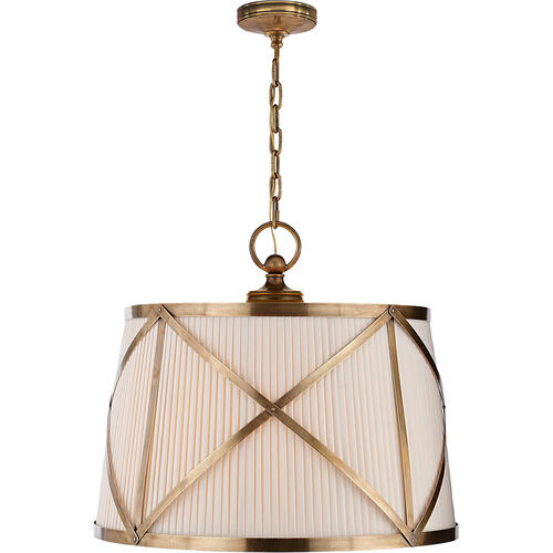 Visual Comfort - E. F. Chapman Grosvenor 3 Light 24 inch Antique-Burnished Brass Hanging Shade Ceiling Light
