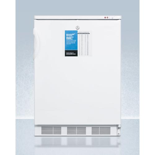"""Summit - 24"""" Wide -25 c All-freezer for Freestanding Use, Manual Defrost With A Lock and Probe Hole for User-installed Monitoring Equipment"""