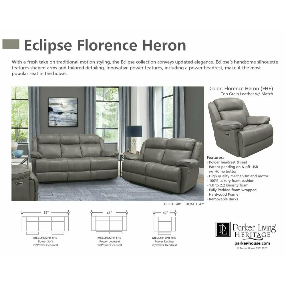ECLIPSE - FLORENCE HERON Power Sofa