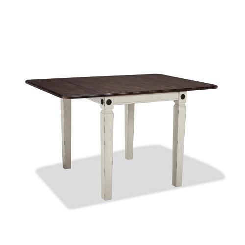 See Details - Glennwood Drop Leaf Table  White & Charcoal