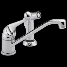 See Details - Chrome Single Handle Kitchen Faucet with Spray