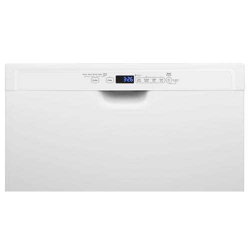 Whirlpool - Stainless steel dishwasher with 1-Hour Wash cycle White