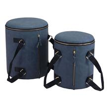 See Details - Candice Ottoman Storage Set Blue