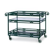 See Details - Augustine Metal Bar Cart W/ Tempered Glass