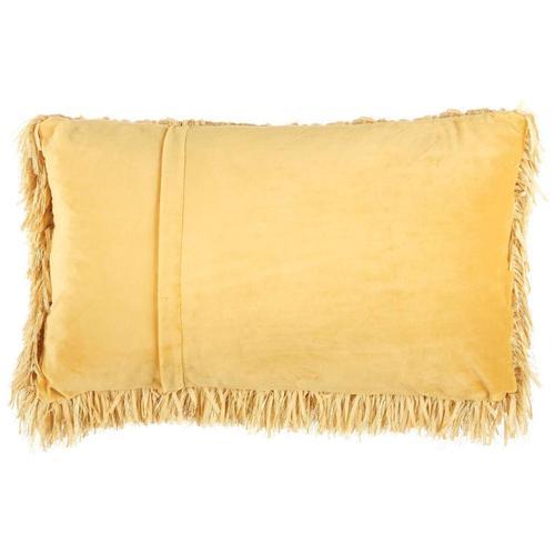 "Shag Tl048 Yellow 14"" X 24"" Throw Pillow"