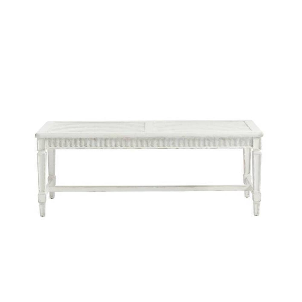 Juniper Dell Bed End Bench - 17th Century White
