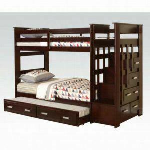 ACME Allentown Twin/Twin Bunk Bed w/Storage Ladder & Trundle - 10170W - Espresso