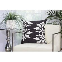 "Outdoor Pillows As065 Black 20"" X 20"" Throw Pillow"