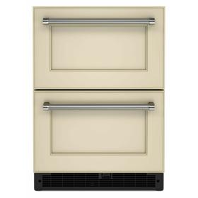 """24"""" Panel-Ready Undercounter Double-Drawer Refrigerator - Panel Ready PA"""