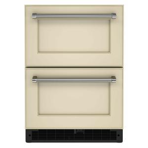 "KitchenAid24"" Panel-Ready Undercounter Double-Drawer Refrigerator - Panel Ready PA"