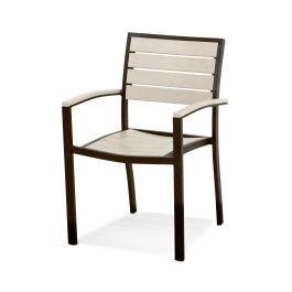Polywood Furnishings - Eurou2122 Dining Arm Chair in Textured Bronze / Sand