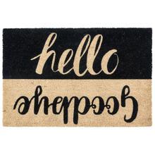 See Details - Doormat Hello Goodbye Black 24x36