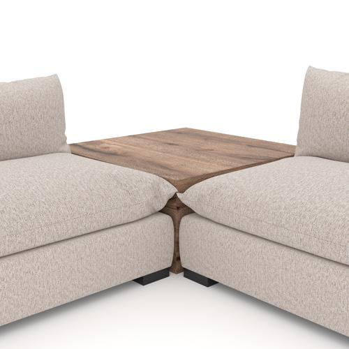 W/ Corner Table Configuration Bayside Pebble Cover Westwood 4 Piece Sectional