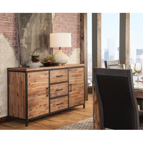 Rustic Buffet in Sierra Brown
