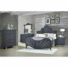 ACME Dante Chest - 24236 - Glam - Velvet, Inner Frame: MDF, PB, Chipboard - Gray Velvet